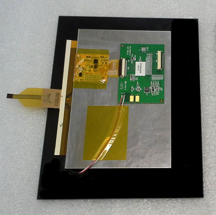 Touch Display Einheit mit Optical Bonding hergestellt